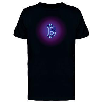 Blå Bitcoin tegn Tee menn-bilde av Shutterstock