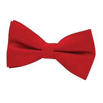 Dobell Boys Red Bow Tie Dupion Satin-Feel Pre-Tied