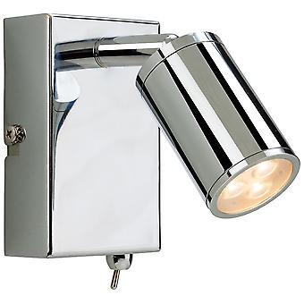Firstlight-LED 3 luz de pared de iluminación interior (conmutada) cromo-3453CH