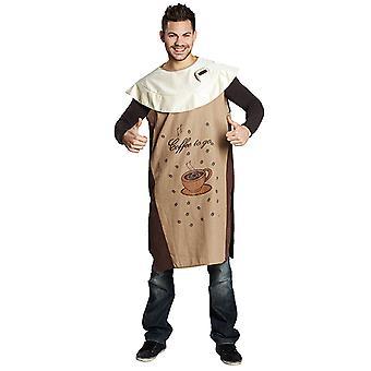 Koffie koffie kop koffie gaan cup Coffeetunika kostuum unisex