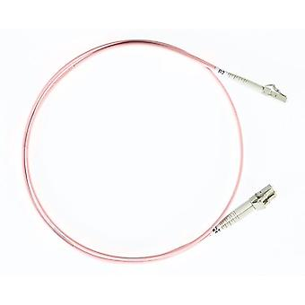 1M Lc Lc Om4 Multimode Fibre Optic Cable Salmon Pink