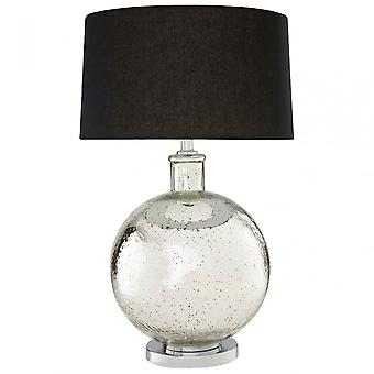 Premier Home Aysel bordslampa, glas, linne, silver