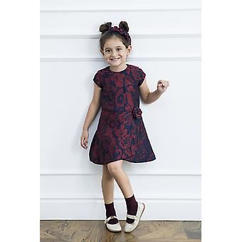 Flower jacquard girl dress