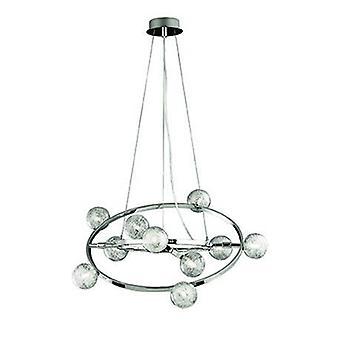 10 lumière petit plafond pendentif chrome