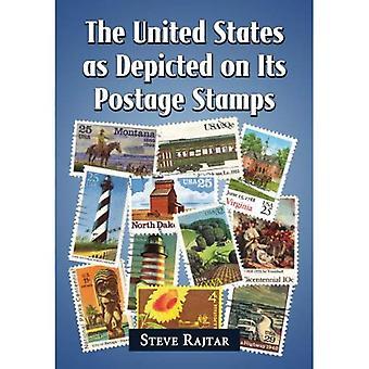 USA avbildet på sin frimerker