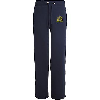 1er East Anglian Regiment - Licensed British Army Embroidered Open Hem Sweatpants / Jogging Bottoms
