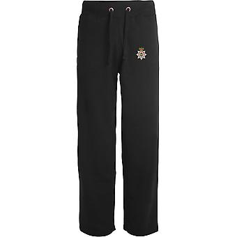 Defense Fire And Rescue - Licensed British Army Embroidered Open Hem Sweatpants / Jogging Bottoms