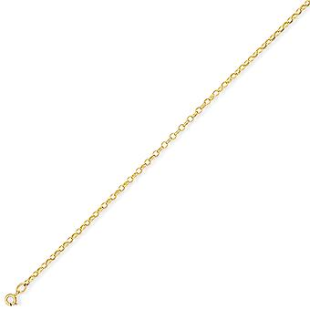 Jewelco London 9ct Light Yellow Gold - Heavy Oval Belcher Pendant Chain Necklace - 2.6mm gauge