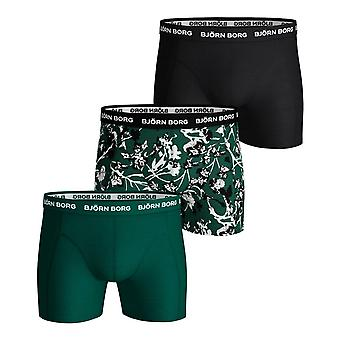 Bjorn Borg Men's Boxer Shorts 3 Pack ~ Sammy BB Fleurs De Jard