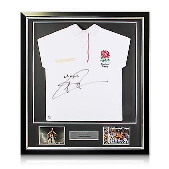 Jonny Wilkinson ondertekend Engeland rugby shirt 2003 ingelijst-met respect