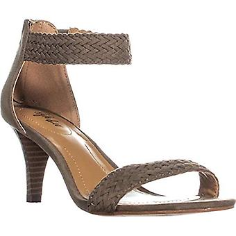 Style & Co. SC35 Pattyy Braided Straps Ankle Strap Sandals, Olive, 7 US