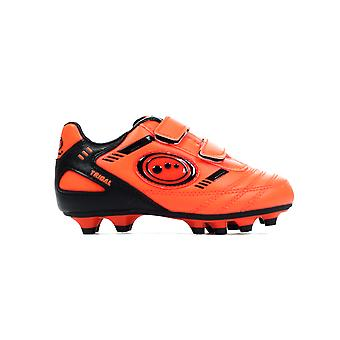 Optimum Tribal Strap Moulded Kids Football Boot Orange/ Black
