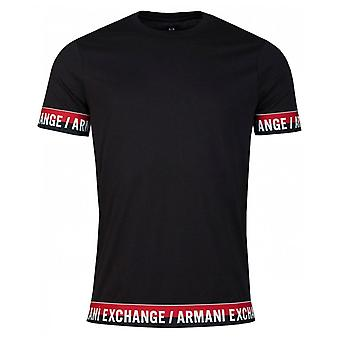 Armani Exchange Taped Cuff And Hem Crew Neck T-shirt