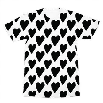 Small hearts premium sublimation adult t-shirt