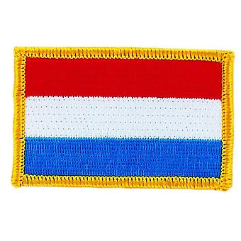 Patch Ecusson Brode Drapeau  Luxembourg  Thermocollant  Insigne Blason Patche