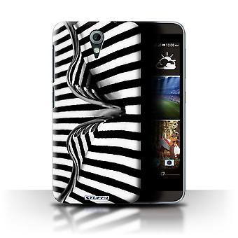STUFF4 Case/Cover for HTC Desire 820 Mini/Fork/Stripes/Abstract Art
