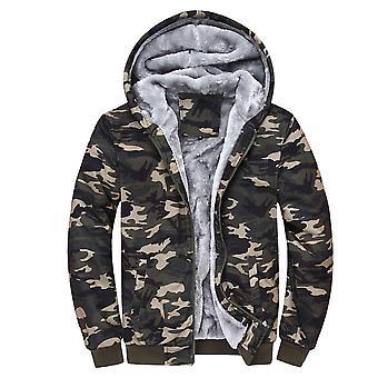 Allthemen Men's Camouflage Hooded Thick Warm Padded Jacket