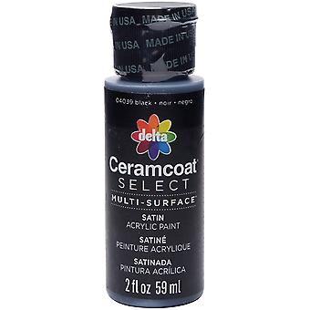 Ceramcoat Select Multi-Surface Paint 2oz-Black 4000-04039