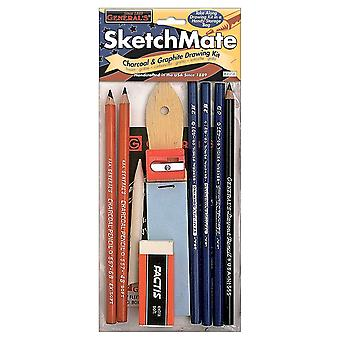 Sketchmate Charcoal & Graphite Drawing Kit 49Sk