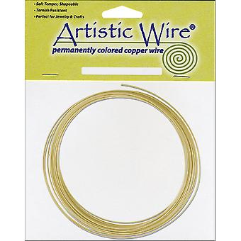 Non Tarnish Artistic Wire 10 Feet Pkg Brass 16 Gauge Awb 16