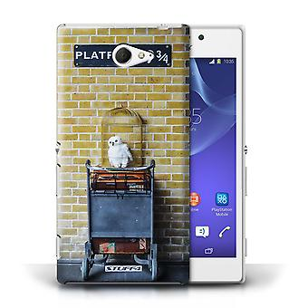 STUFF4 Case/Cover for Sony Xperia M2/Platform 9 3 Qrts/London Sites