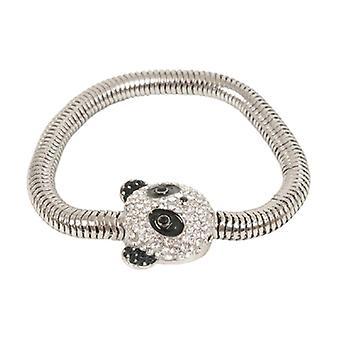 Butler & Wilson Crystal Panda hoofd zachte ketting magneet armband