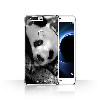 STUFF4 Case/Cover for Huawei Honor V8/Panda Bear/Mono Zoo Animals