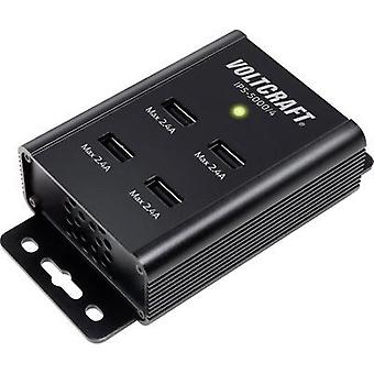 USB charger Mains socket VOLTCRAFT IPS-5000/4 Max. output current 2.4 A 4 x USB Auto-Detect