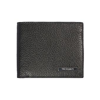 Trussardi 100% genuine leather men's Wallet Dollar Calf-11, 8x10x1 .8 Cm