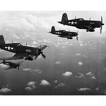 Aerei da combattimento in volo US Marine Corps Poster stampa (18 x 24)