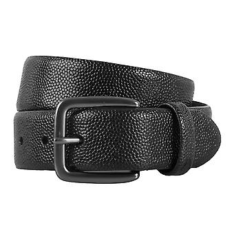 ALBERTO belt leather men's belts leather black 1922