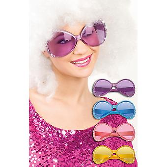Bright Coloured with Diamante 60's Sunglasses Fancy Dress Accessory
