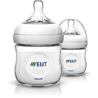 Avent Natural 2 Feeding Bottles 125ml