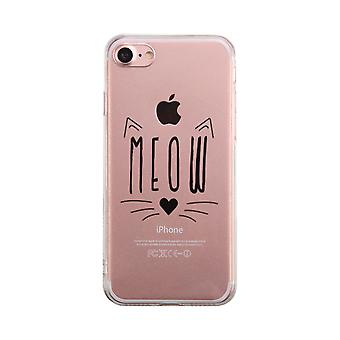 Miau Kitty Gesicht Transparent Telefon Fall niedlich klar Phonecase