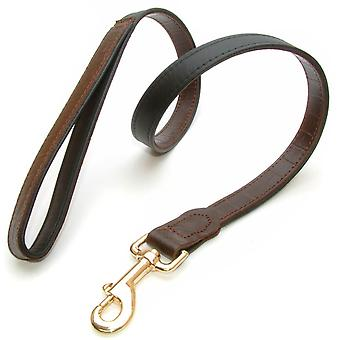 Yacare Leather Lead Brown 15mm X 100cm