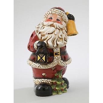 Christmas Santa Tealight Holder Decorative Ornament Seasonal Gift