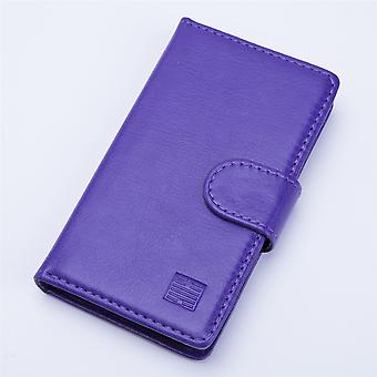 Book wallet + stylus for Alcatel Pixi 4 (3.5) - Purple
