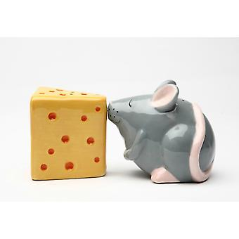 Mouse and Cheese Salt and Pepper Shaker Set