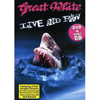 Great White - Live & Raw [DVD] USA import