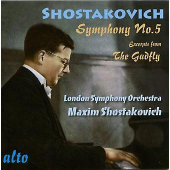 D. Shostakovich - Shostakovich: Symphony No. 5; Excerpts From the Gadfly [CD] USA import