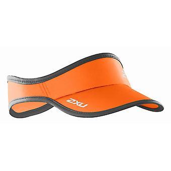 2XU run visor Cap neon Orange - UA1150f-3176