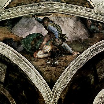 Michelangelo - Sistine Chapel Section 13 Poster Print Giclee
