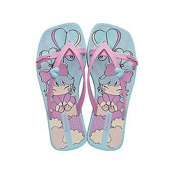 Ipanema Kirey II Kids Girls Flip Flops / Sandals - Blue and Pink