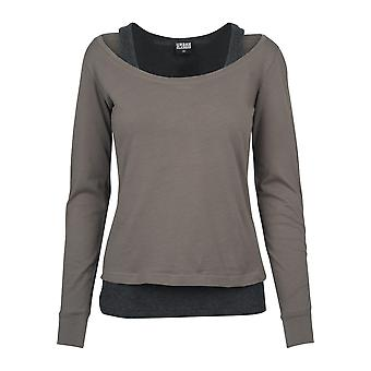 Urban classics ladies long sleeve two-colored