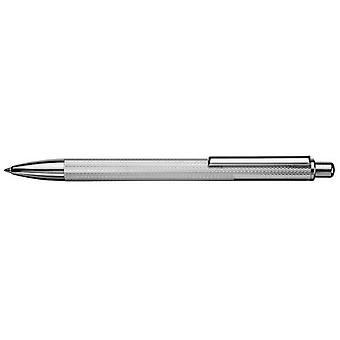 Orton West Engine Turned Barley Ballpoint Pen - Silver