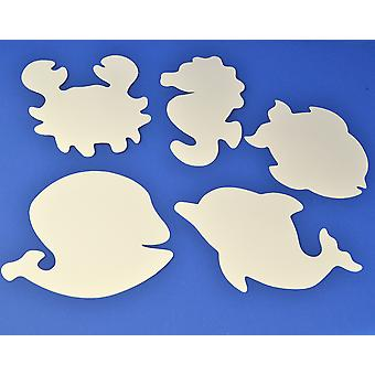 16 Large White Card Sealife Shapes for Kids Crafts | Under the Sea Crafts
