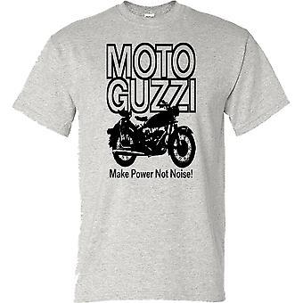 Moto Guzzi gjøre makt ikke støy klassiske motorsykkel Biker Mens T-skjorte