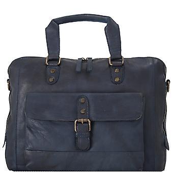 Ashwood Spitalfields Medium Leather Vintage Two Section Laptop Bag