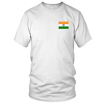 Nationalflagge Indien Land - Stickerei Logo - 100 % Baumwolle T-Shirt Damen T Shirt