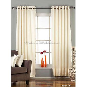 Cream Ring / Grommet Top 90% blackout Curtain / Drape / Panel  - Piece